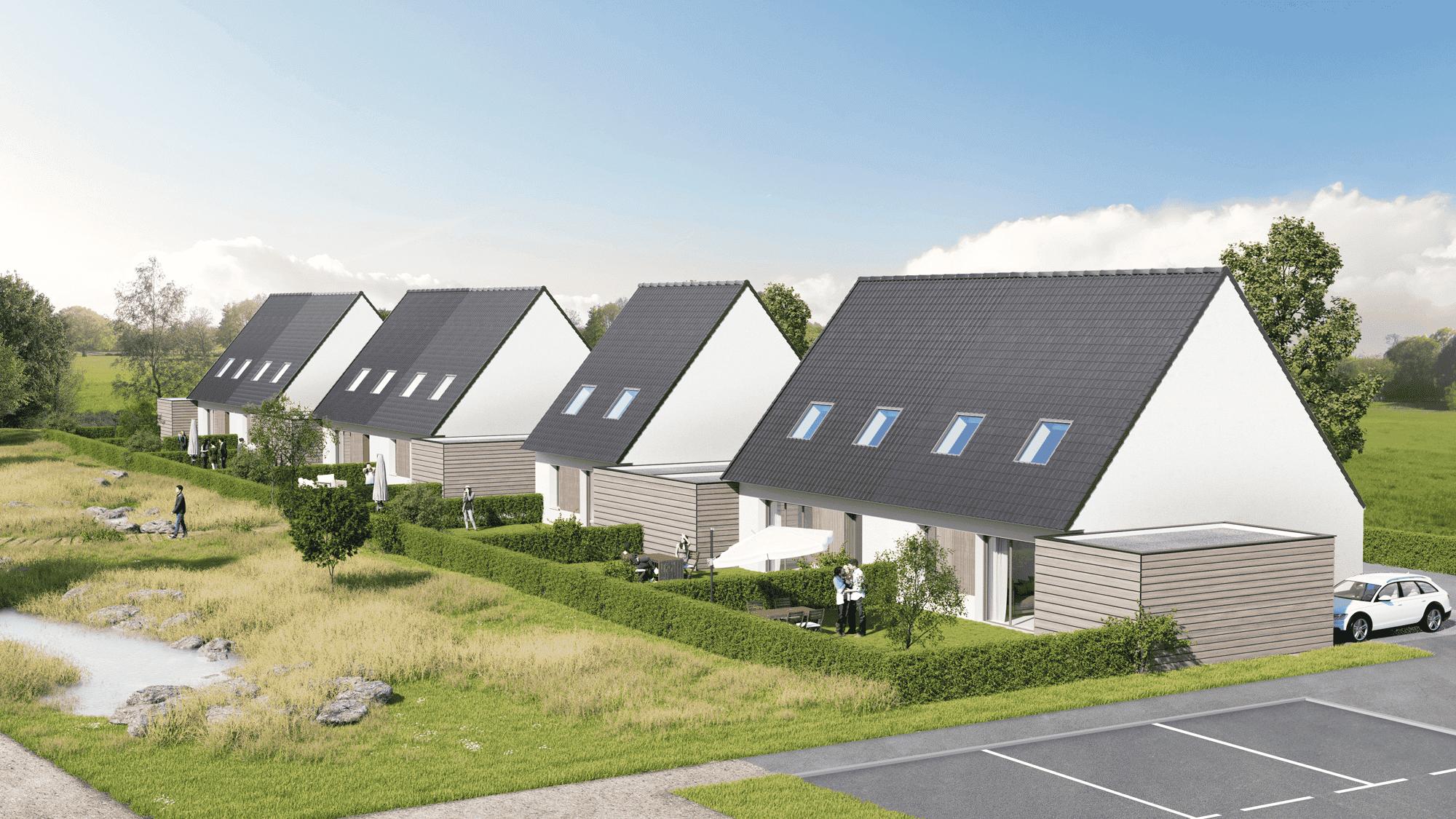 Découvrez notre nouveau programme immobilier neuf à Méricourt de 9 maisons neuves à vendre. La résidence Les Contemporaines comprend des maisons neuves individuelles du T4 au T5 à Méricourt
